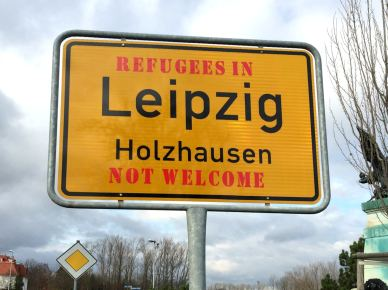Refugees Not Welcome Strafbar
